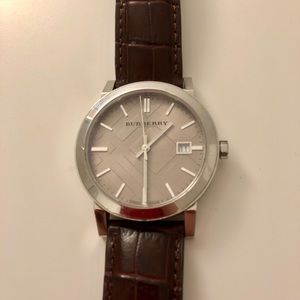 Burberry Accessories - burberry watch with new Tissot band
